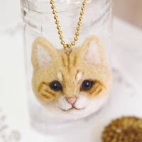 하마나카 노란 치즈고양이 얼굴 키트