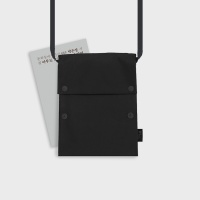 Two button book pouch cross_Black