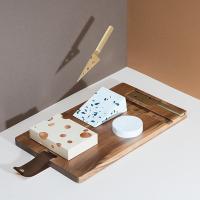 [원더스토어] 도이 원목 치즈 도마 나이프 세트