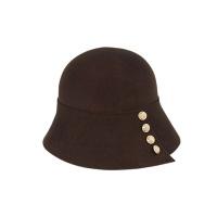 [에반스]Button felt Hat 버튼 펠트모자_brown