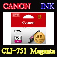 캐논(CANON) 잉크 CLI-751 / Magenta / CLI751 / ip7270 / ip8770 / ix6770 / ix6870 / MG5470 / MG5570 / MG6370 Black / MG6370 White / MG6470 / MG7170 / MX727 / MX927