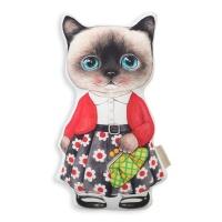 고양이삼촌 쿠션 - 꽃치마 클라우디
