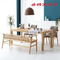 미농 고무나무 원목 식탁 테이블 6인용 1800