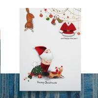 크리스마스카드/성탄절/트리/산타 벌거벗은 산타 FS1022-3