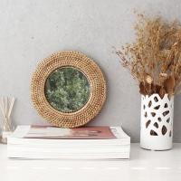 [2HOT] 라탄 벽걸이 거울 원형 1호