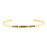 [만트라뱅글] LIVE LAUGH LOVE - 골드