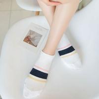 심플 스트라이프 발목양말(5개 세트)