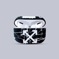 에어팟케이스/3세대/프로 화이트오프 대리석 400 블랙