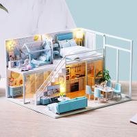 DIY 미니어처 하우스 - 블루 펜트하우스