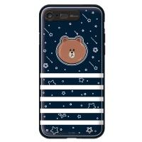 라인프렌즈 iPhone7 BROWN Face-B LIGHT CASE