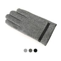 [디꾸보]방한 스티치 이너 인조털 남성장갑 ST806