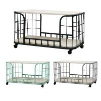 [Idesign]CORDOBA Trolley with 2 shelves Black 2단 수납트롤리