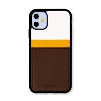 스매스 아이폰11 보호 카드케이스 씨원 리버스_옐로우/브라운
