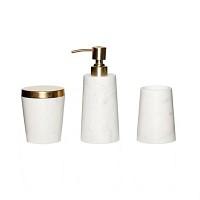 [Hubsch]Bath series, marble/brass, s/3 519009 욕실용품