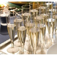 Plastic Champagne Glass 10pcs
