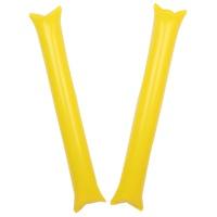 응원용 팡팡막대풍선-옐로우(1쌍)