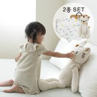 [CONY]아기백호애착인형+오가닉스카프(유아선물세트)