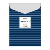 1200 디자인 봉투화일 (세로형/네이비)