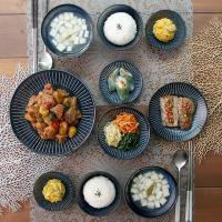 일본식기 다카네블루 10P 홈세트
