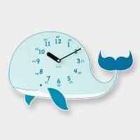 [베짓] 꿈의 고래 무소음 벽시계(블루)