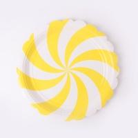 롤리팝 파티접시 18cm - 옐로우(6입)