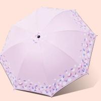 꽃송이 UV차단 암막 우산 양산