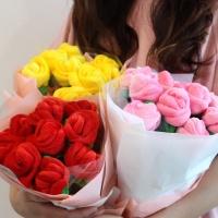 갓샵 장미꽃 인형 꽃다발 3color 여자친구 기념일