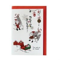 크리스마스카드/성탄절/트리/산타 그대의산타 (FS156-4)