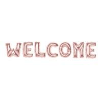 알파벳은박풍선세트 (WELCOME) 로즈골드