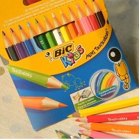 [BiC] 선명한 발색력과 부드러운 사용감의-프랑스 빅 KIDS Tropicolors mini 12색 색연필 HA125-3