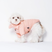 스니프 목도리 패딩 점퍼 (핑크)