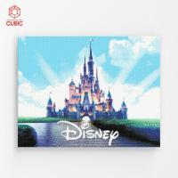 DIY 디즈니 캐슬 보석십자수 액자형 아이러브페인팅