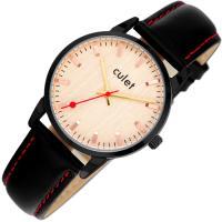 CULET 큐렛 남녀 가죽손목시계 CL10418-BKR