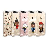 라인프렌즈 iPhone 7,8 Plus BEAT BROWN CASE