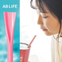 세척솔이 필요없는 재사용 개방형 실리콘빨대 핑크색