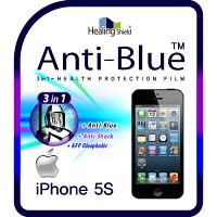 [힐링쉴드] 아이폰5S 3in1 블루라이트차단 충격흡수필름 2매+후면보호필름 1매(HS140317)