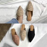 [애슬릿]스웨이드 서클무늬 여성단화 블로퍼