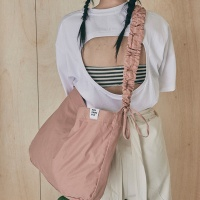 Shirring shoulder hobo bag_blue
