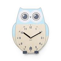 [BEZIT] RICH OWL Wall Clock(BLUE 무소음벽시계)
