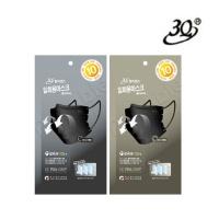 [3Q] 칼라센스 3중 필터 블랙 마스크 10매 (대형 / 중형)