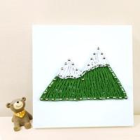 꼬마 산 스트링아트 만들기 패키지 DIY