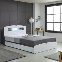 리트로 통서랍 LED Q 침대(매트리스미포함)