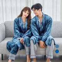 [쿠비카]벨벳 로브 가운 벨티드 커플잠옷 WM201