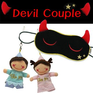 Devil couple set-eye mask and Cleaner (Boy and girl)