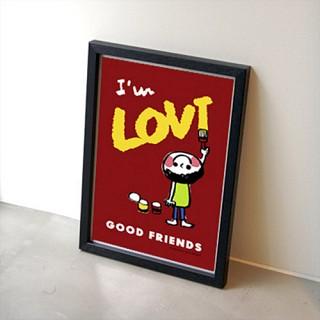 GOOD FRIENDS 포스터 - 레드
