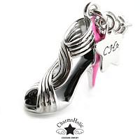 [참스홀릭]Express heeled sandal silver cks051