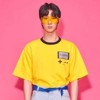 Retro 8bit gamepack T-shirts Yellow