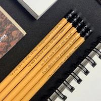 메시지 각인- Mustard Yellow 지우개 원목연필 5본입