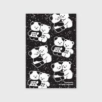 Cookie cream pattern-black엽서)