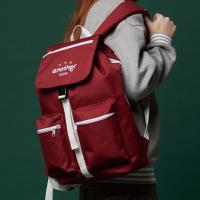 [어나더프레임] THREE STAR HOOD BACKPACK (BURGUNDY) 백팩 후드백팩 포켓 가방